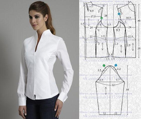 3 Patrones de costura para blusa de señora gratuitos 5