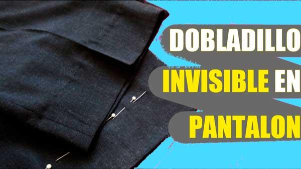 dobladillo invisible pantalones